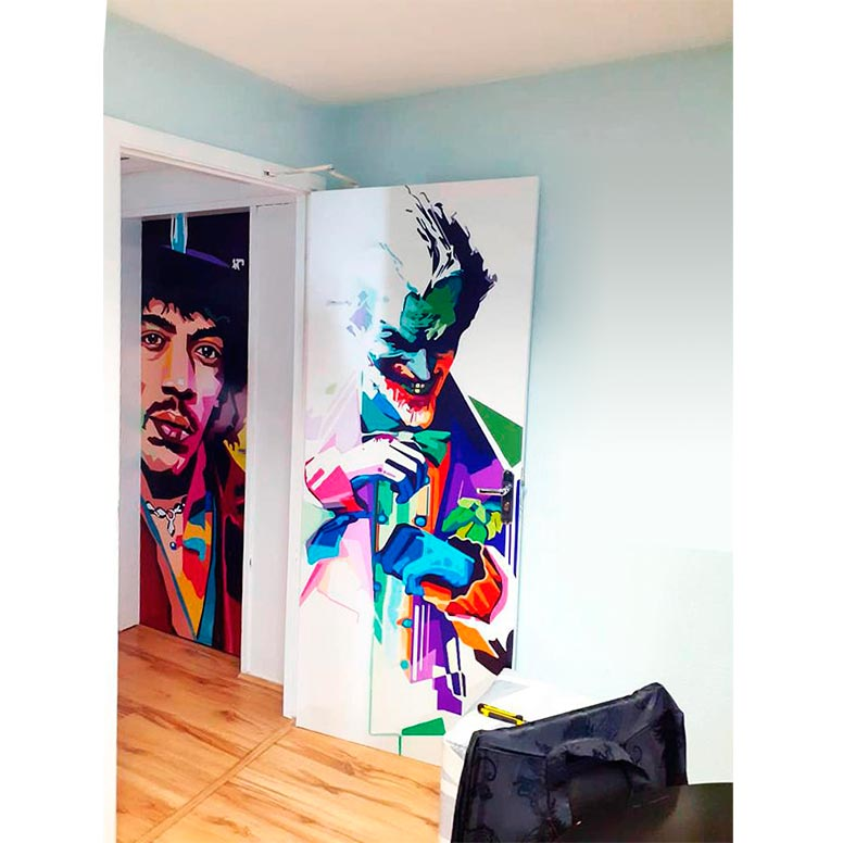 Adesivos personalizados portas